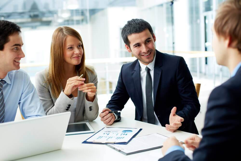 workmates meeting