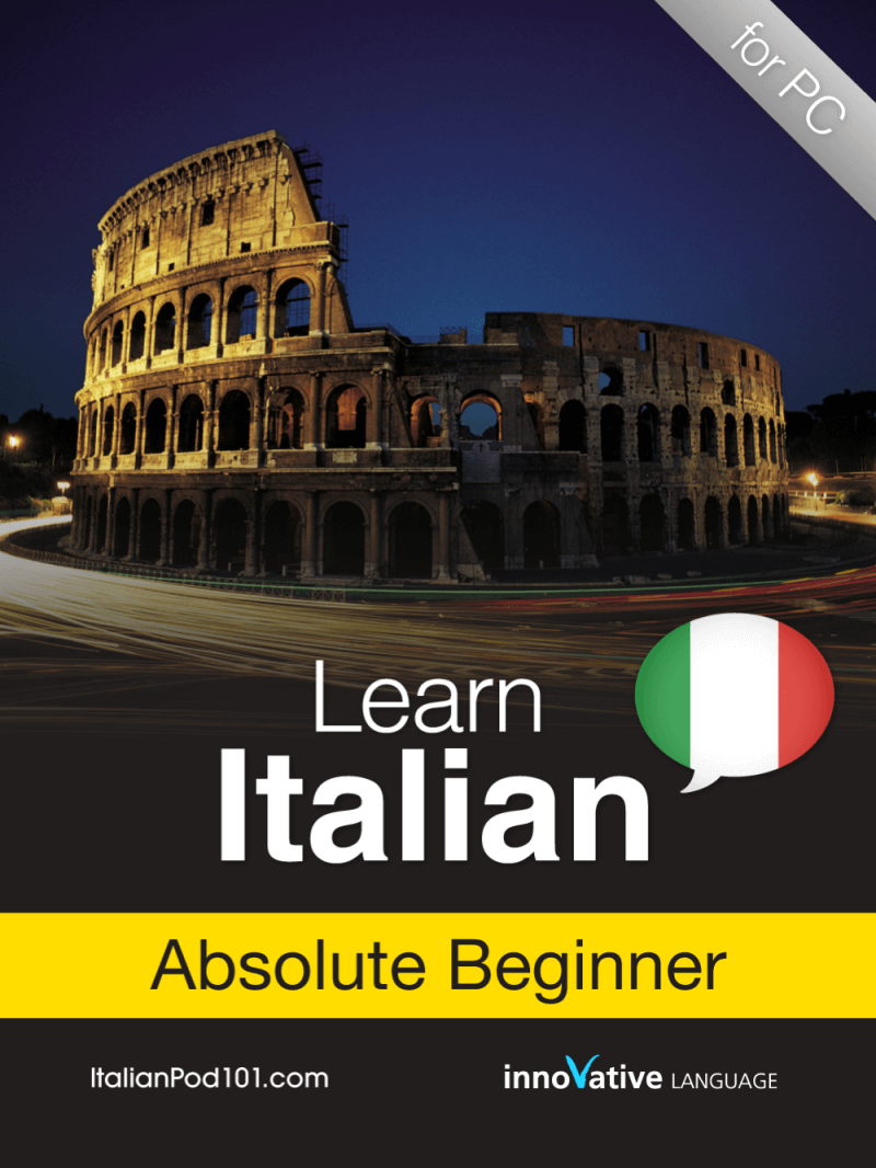 learn italian and a building in the background