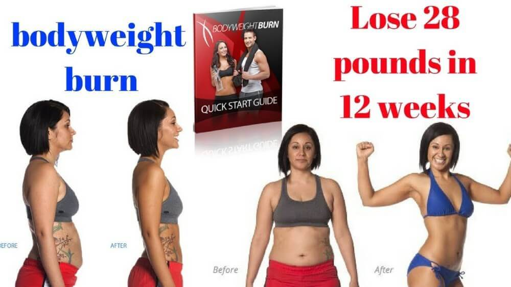 bodyweight burn review with a woman showing a cute body