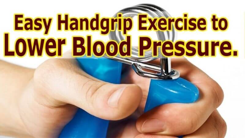 easy handgrip exercises to lower blood pressure