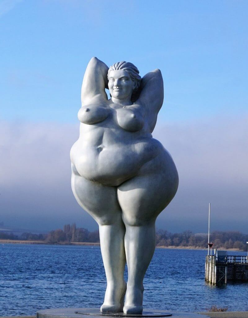 a statue of a fat lady