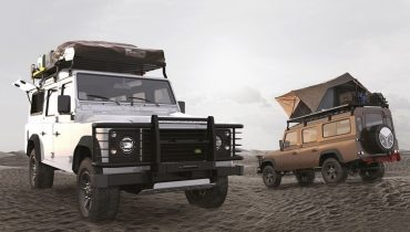 land rover cars with racks
