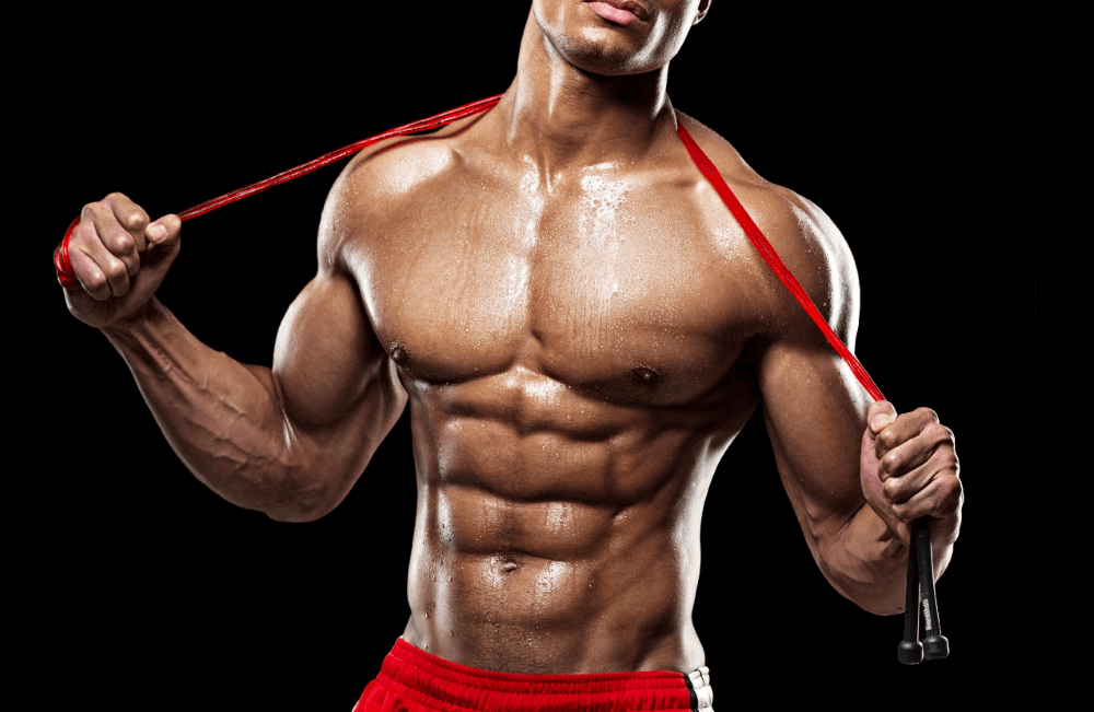 musculine man holding a piece of ribbon