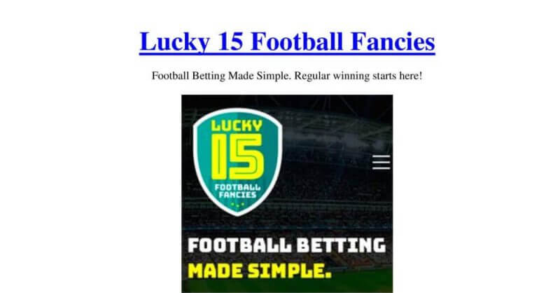 Lucky 15 Football Fancies