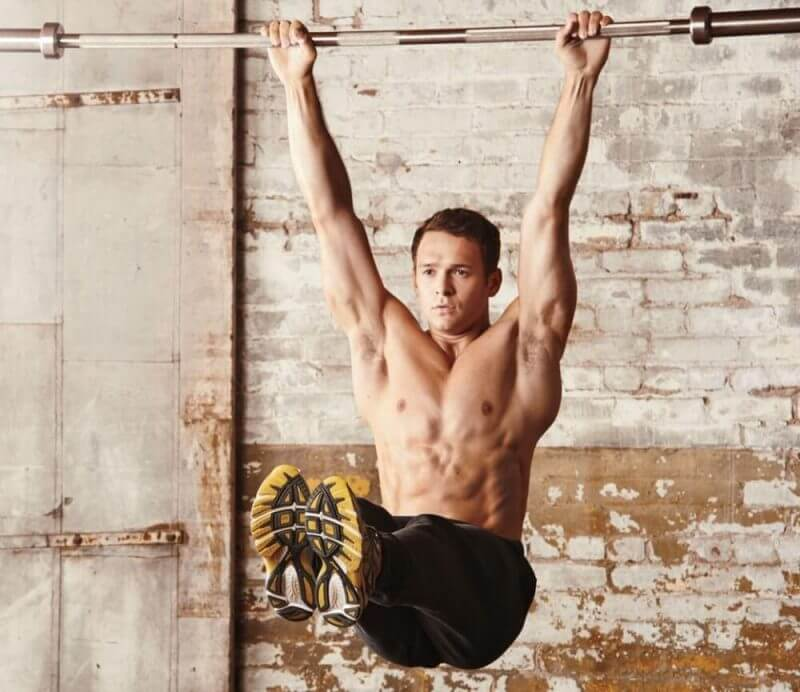 musculine man doing exercises