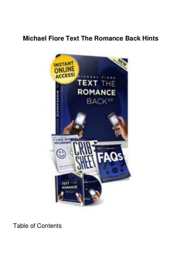 text romance back review