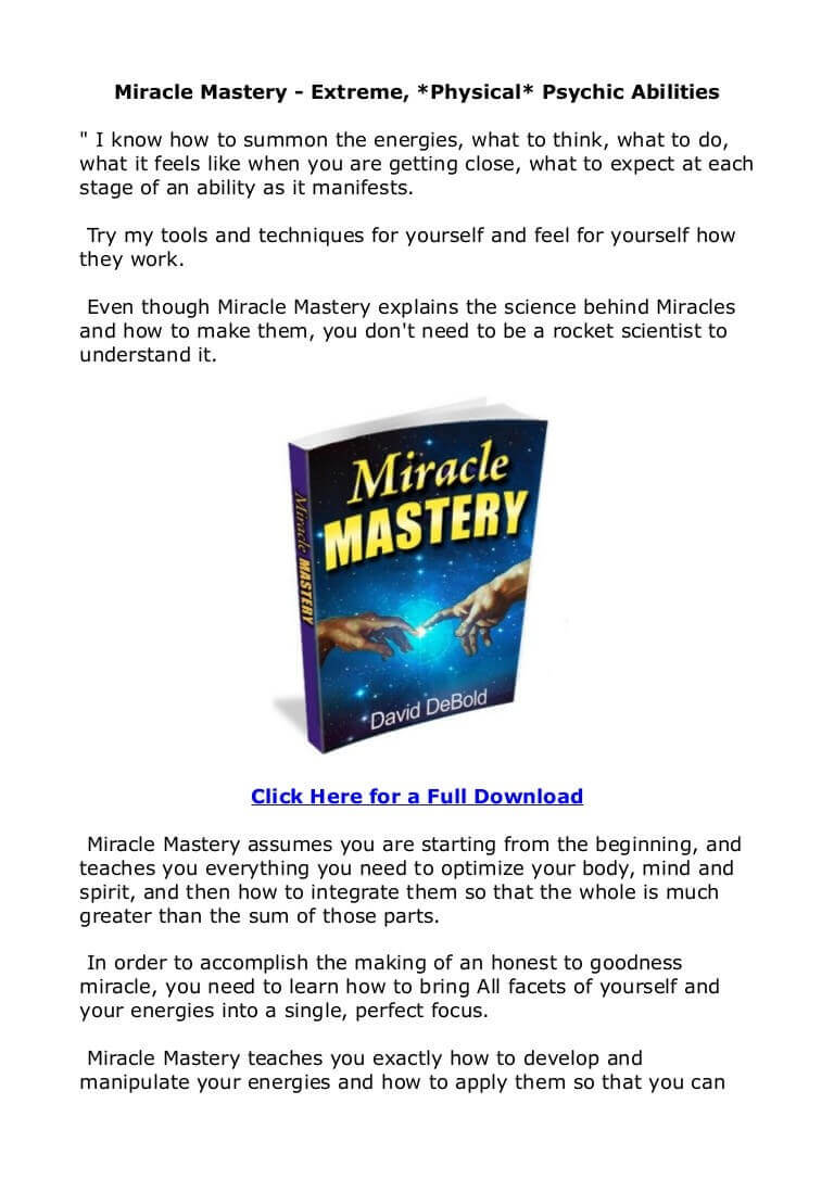 Miracle Mastery – Does It Really Work? – In-Depth Review