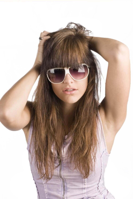 a cute lady in shades