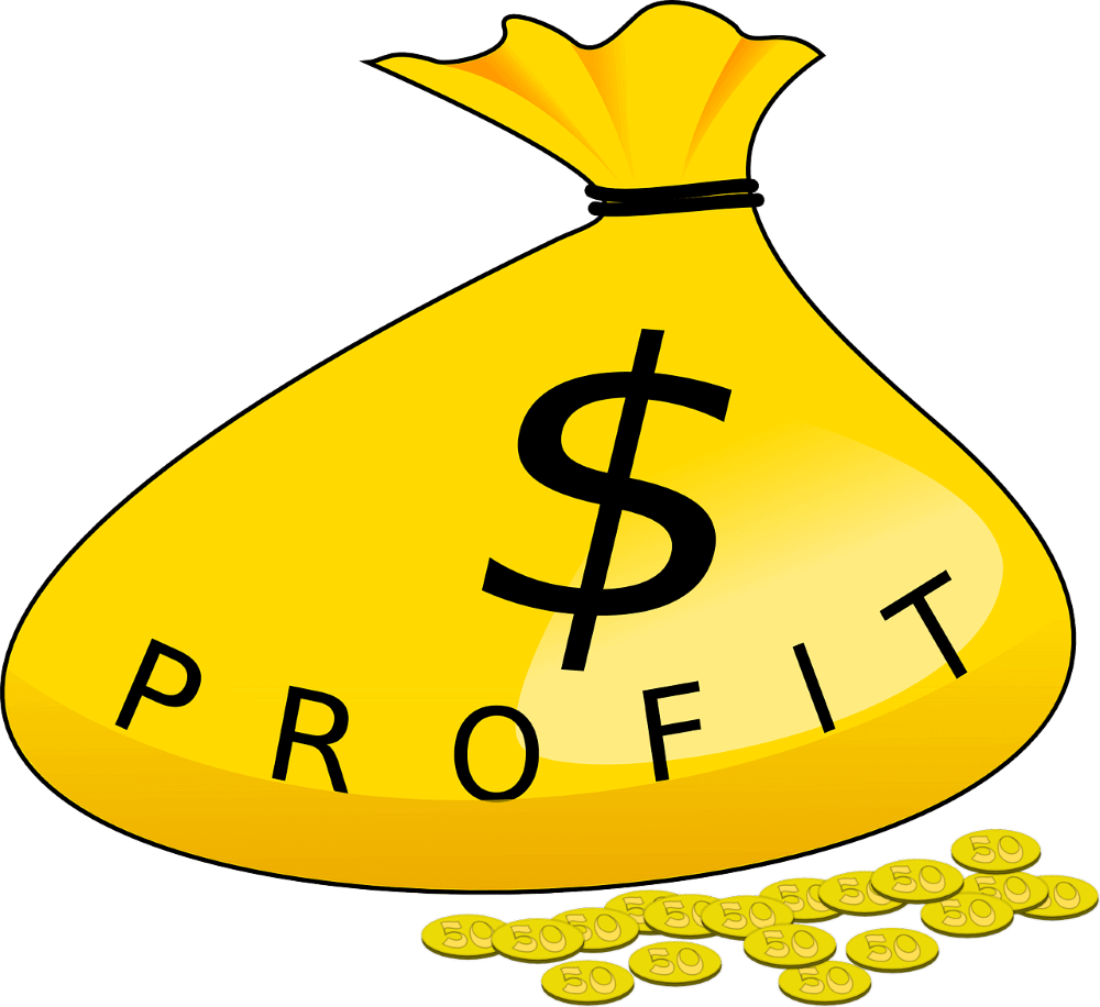 a yellow bag representin profits