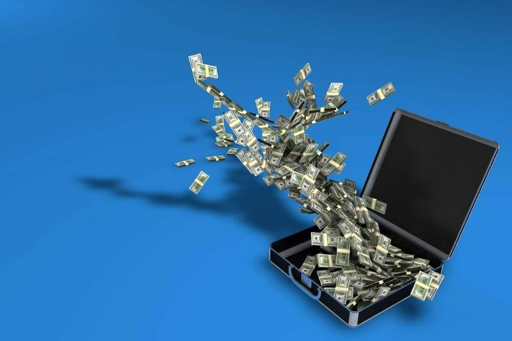 brifecase with money
