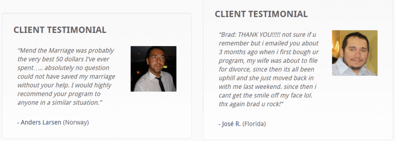 mending the marriage testimonials