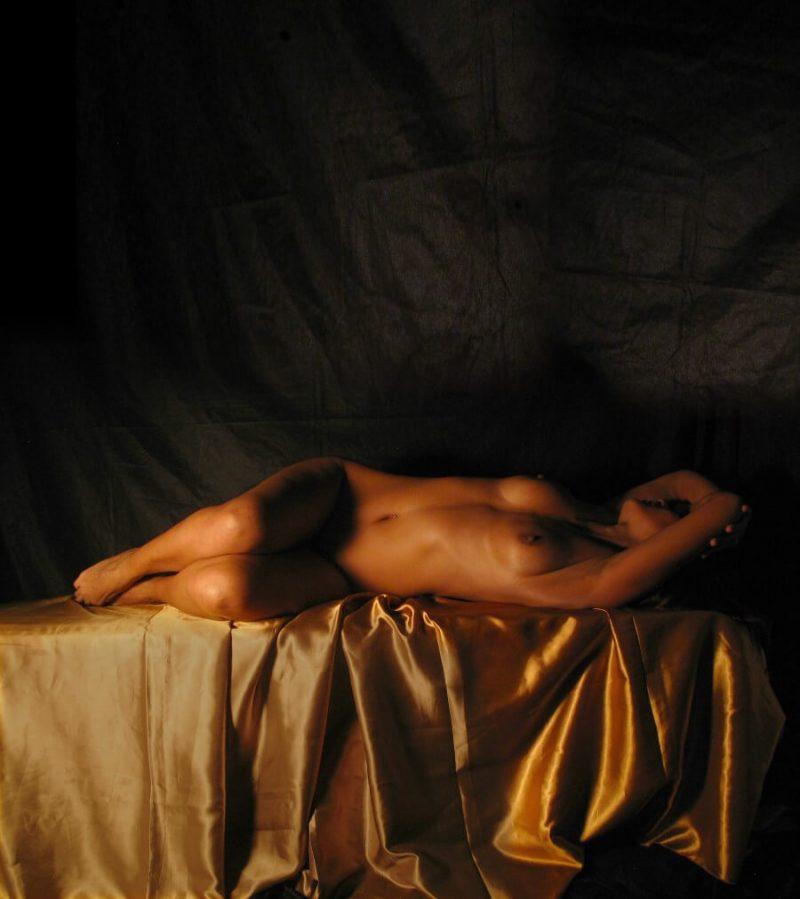 naked woman lying down