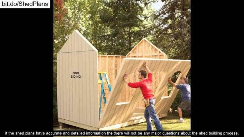 My Shed Plans Review: men putting together a wood structure