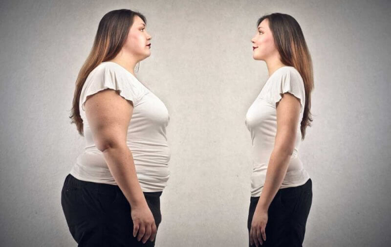 OBESE WOMAN LOST WEIGHT