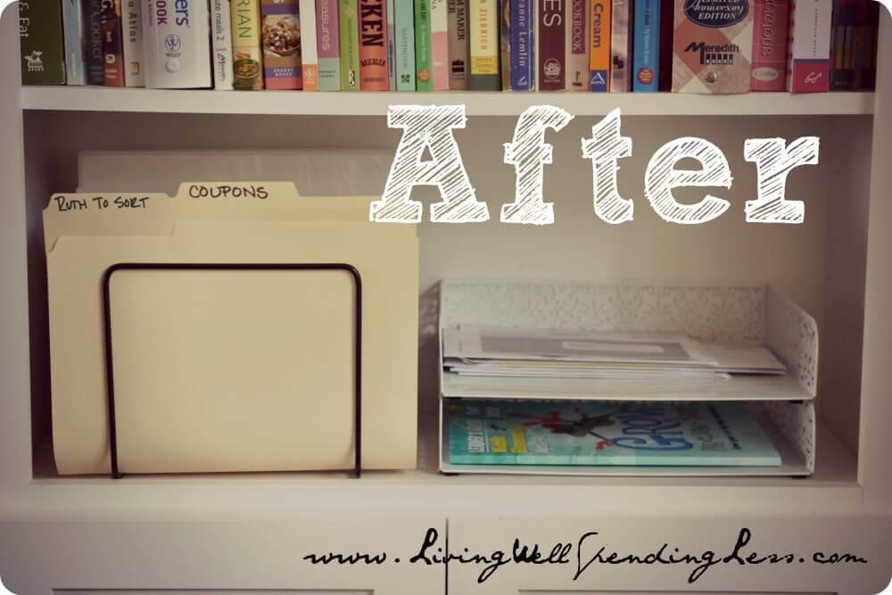 after arranging an office