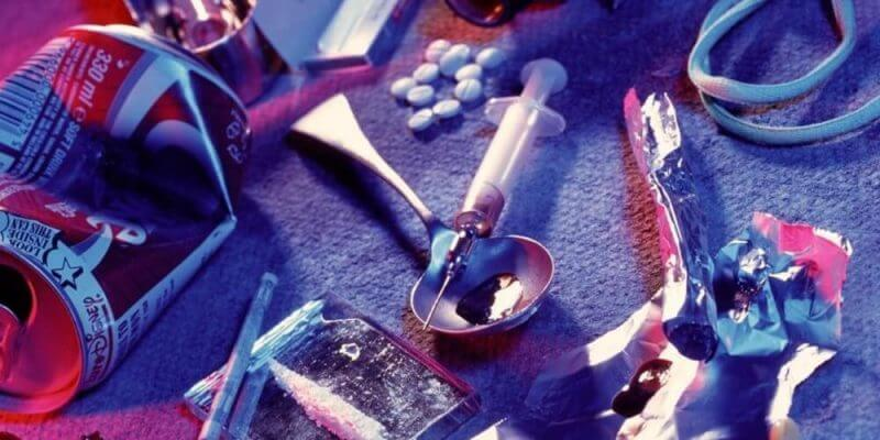 drugs and syringes