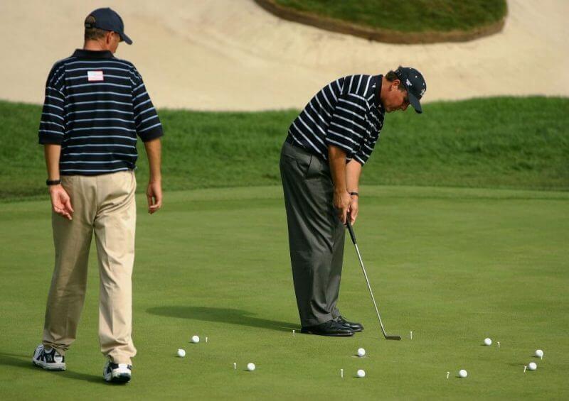 old men playing golf