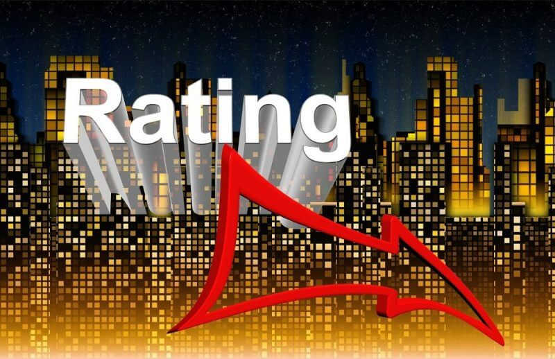 a picture of the word rating with an arrow