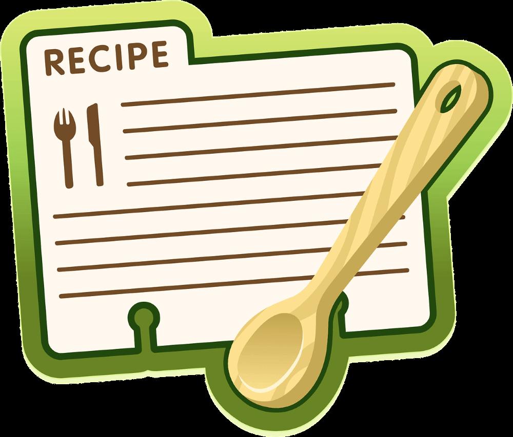 a recipe booklate
