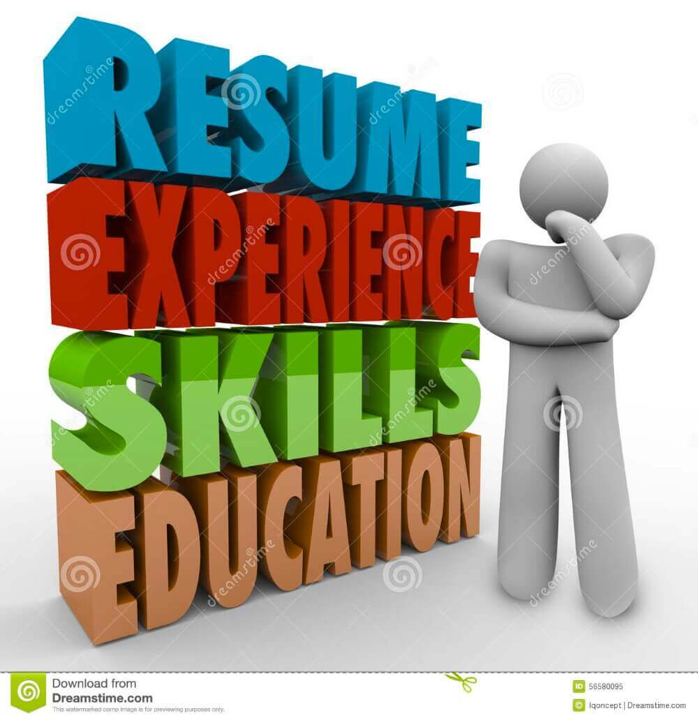 resume-experience-skills-education-thinker-applying-job-qualific-d-words-wondering-career-qualifications-56580095
