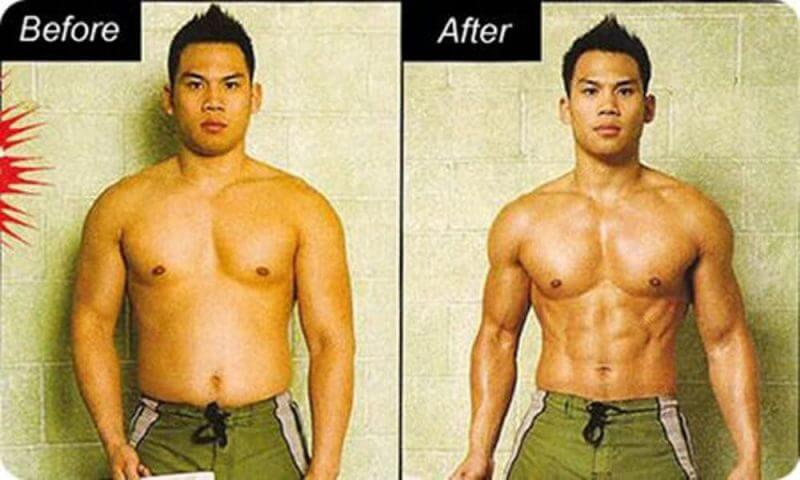 before and after someone has lost fats
