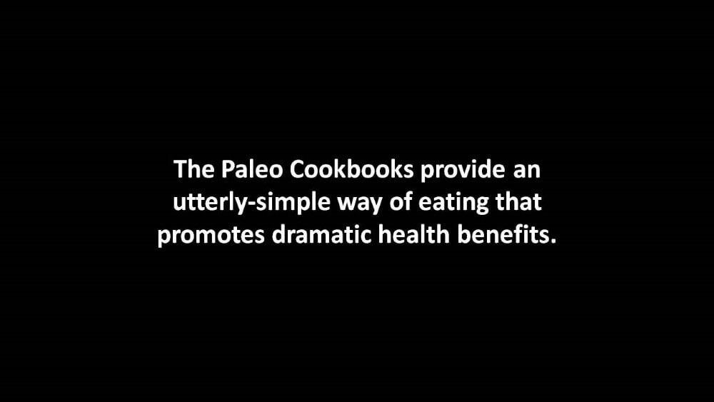 the paleo cookbooks review on a black background