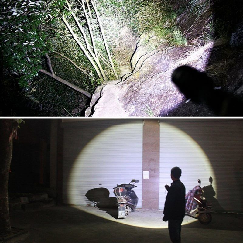 images of light illimunated from tactical flashlights