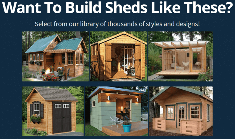 different sheds to build
