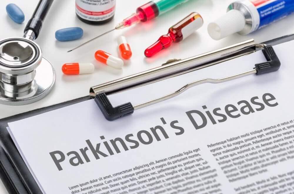 parkinson's disease written on newspaper