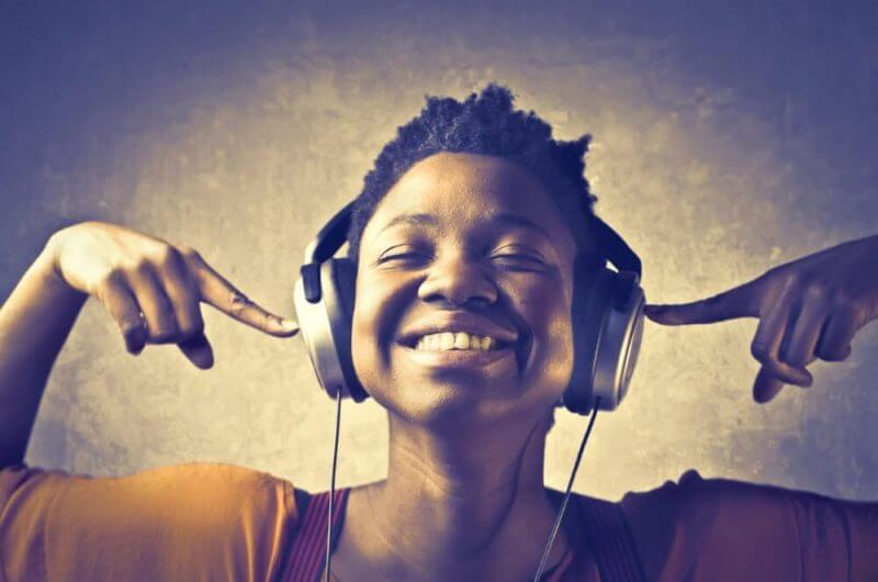 lady listening to music