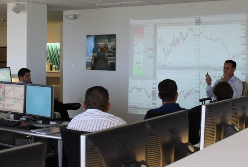 forex brokers in a room