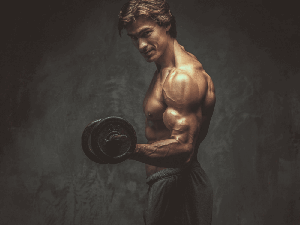 musculine man doing workouts