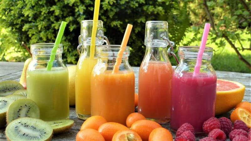 different types of fruit juice