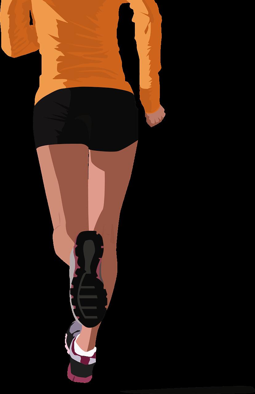 someone sprinting