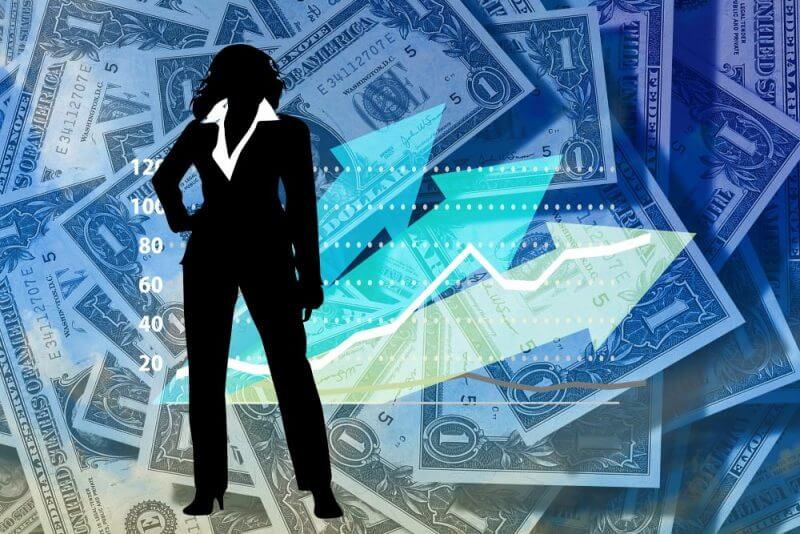 a woman on a chart containing notes