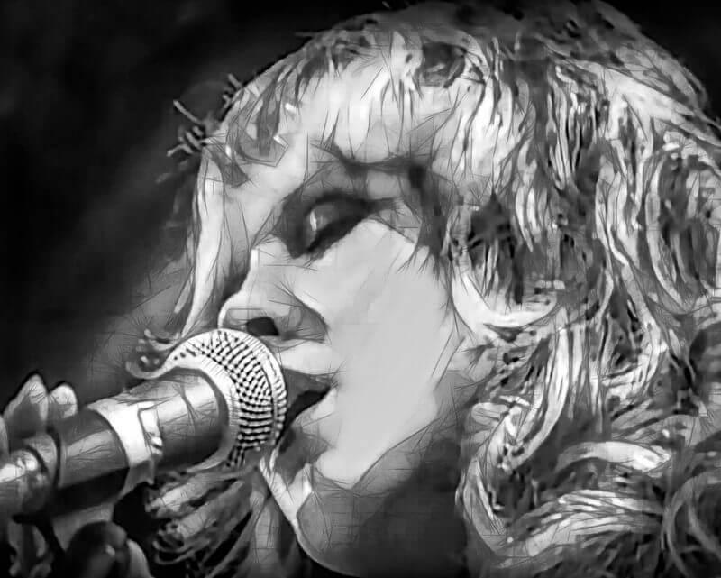 woman sings