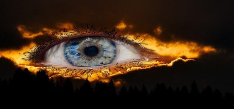 an eye on flames