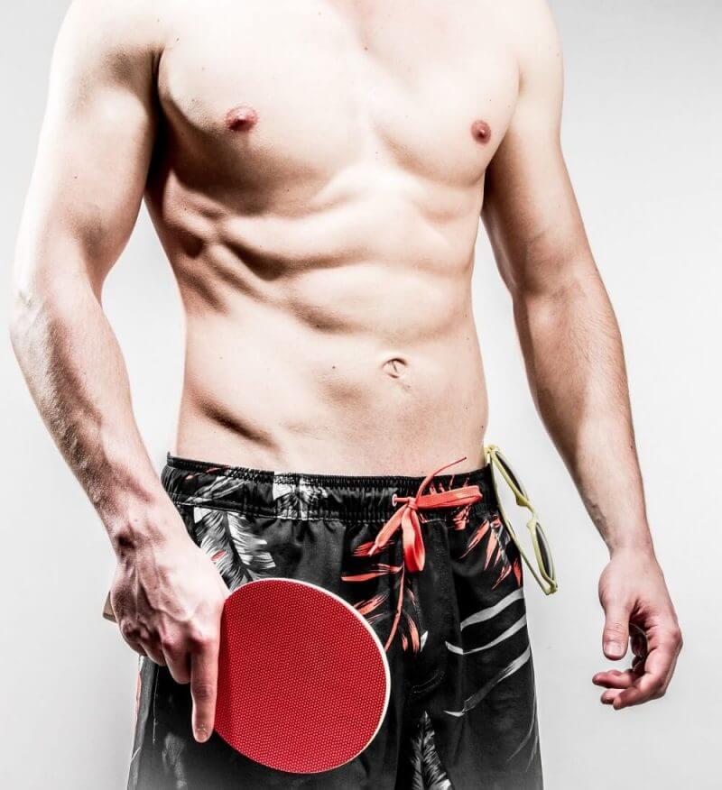 a man wit a table tennis bat