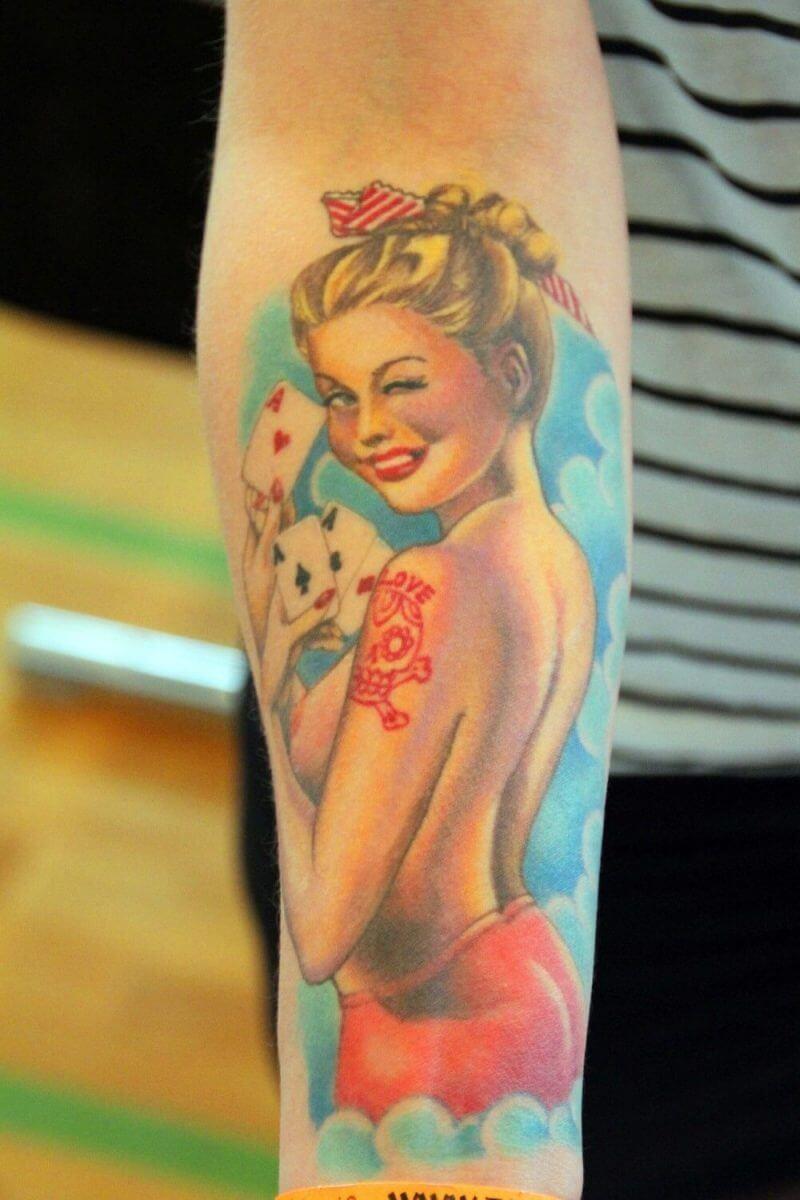 a girl tatoo