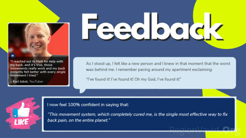 The Back Pain Miracle Testimonial