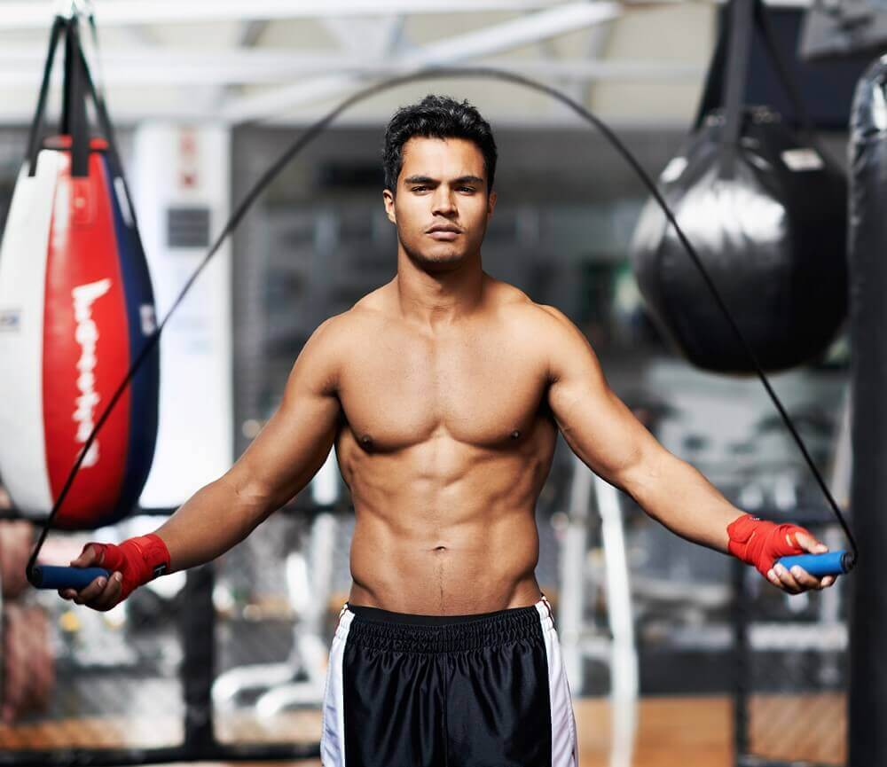 musculine man in a gym