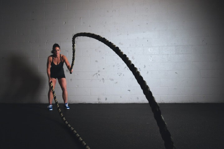 WarFit Combat Conditioning System girl training ropes