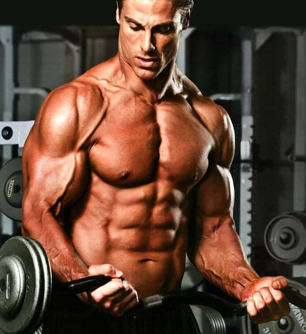 a masculine man in the gym