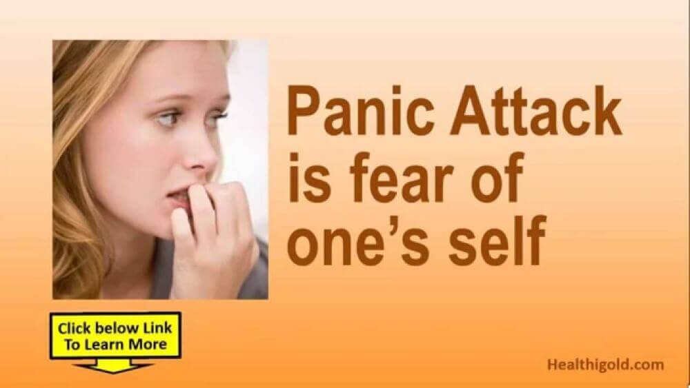 panic attack is fear of one's self and a woman beside