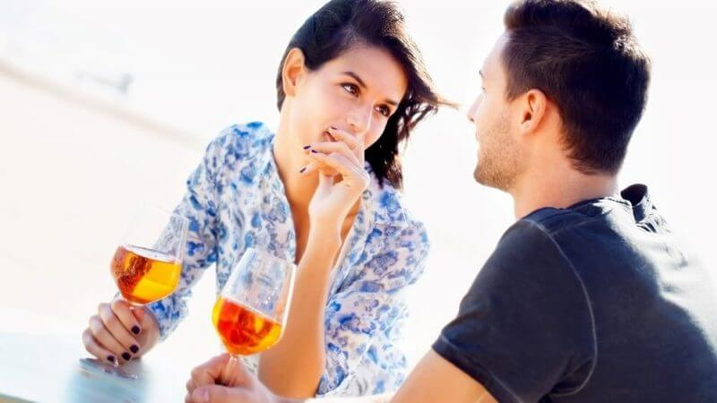 Attractive couple enjoying a romantic date