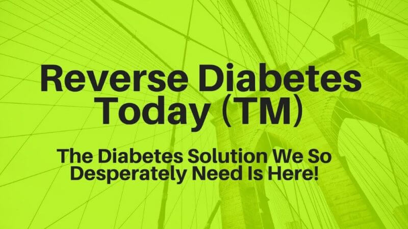 word reverse diabetes toaday in yellow-green backround