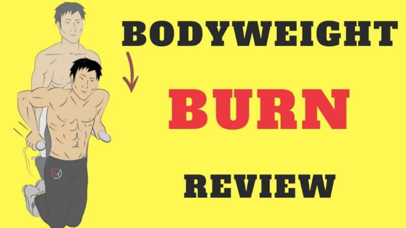 bodyweight burn review on a yellow background